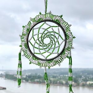 Beautifully Crafted Beaded Dream Catcher Ornament